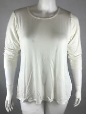 New NY Collection Women 3/4 Sleeve Knit Blouse Ivory Sz 1XP Petite Stretch NWT