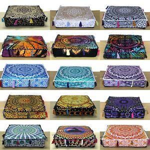 50 Pcs Wholesale Lots Indian Ombre Mandala Floor Cushion Covers Home Decorative
