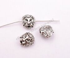 Tibetan Silver Lion Head Spacer Beads for Bracklet Jewelry Findings BE3029