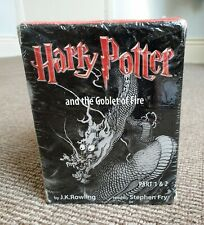 Harry Potter and the Goblet of Fire Part 1 & 2 Audio Book 14 Cassettes Unused
