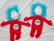 Dr. Seuss Cat In The Hat Thing 1 Thing 2 Plush Dolls