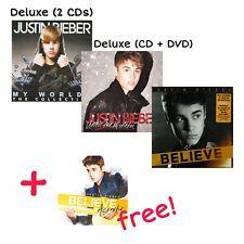 JUSTIN BIEBER ALBUM COLLECTION (2010-2012) MY WORLD/UNDER THE MISTLETOE/BELIEVE