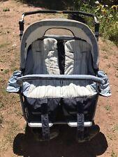 TEUTONIA Zwillingskinderwagen Kinderwagen Doppelkinderwagen BLAU