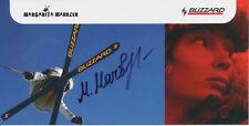Margita marbler ski freestyle autografiada mapa original firmado 379021