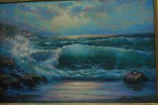 Original Earlene Moses oil painting 24x36 Seascape