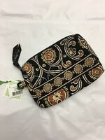 Vera Bradley SMALL COSMETIC Case Bag MAKEUP for PURSE Tote BACKPACK Caffe Latte