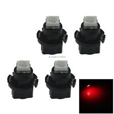 4x Red RV T5 Blub NEO Dash Twist Socket HVAC Panel Lamp 1 5050 SMD LED N401