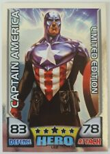 Marvel Universe Hero Attax Trading Cards - Captain America Limited Edition LE2