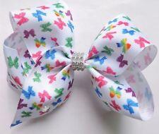 Butterfly Pattern Hair Bows Girls Diamante Hair Clip Accessories 12cm AFP21
