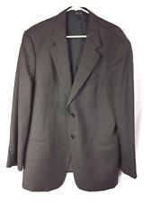 Armani Collezioni Blazer Jacket Brown Red Pinstripe Italy 44 Reg Suit Coat