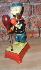Cast iron boxing popeye figure