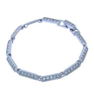 SWAROVSKI Bangle Bracelet Silver clear Woman Authentic Used Y2178