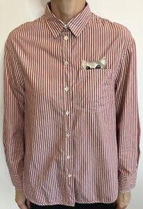 Paul & Joe Sister Size 1 (8) Striped red / white 'Cat' Shirt, Designer Label