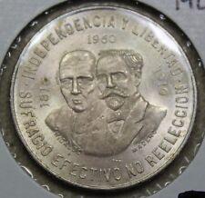 1960 Mexico Silver 10 Pesos - Hidalgo & Madero Commemorative