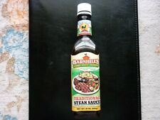 Barnhill's Traditional Steak Sauce (Empty 10 Oz. Bottle) Depicts Food & Rooster