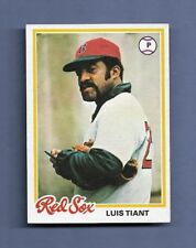 1978 TOPPS LUIS TIANT BASEBALL CARD #345 - EX-MINT CONDITION - Red Sox
