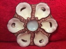 Beautiful Antique French or German Porcelain Oyster Plate c1875, op308