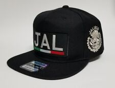 JALISCO   MEXICO HAT  BLACK 2LOGO  SNAP BACK ADJUSTABLE   NEW