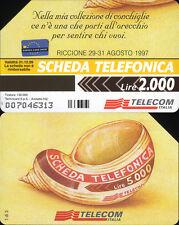 SCHEDA PUBBLICA FIGURATA _  EUROPA CARD SHOW '97 - C&C 2706 GOLDEN 644 - USATA