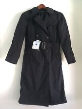 DSCP - NWT GARRISON COLLECTION Womens Charcoal Military Trench Coat, 8L 8 Long