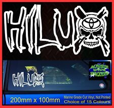 HILUX 4x4 SKULL Sticker for toyota SR5 ute tray 200mm