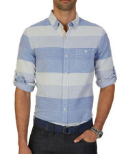 Nautica French Blue Mens Size Large L Slim Fit Button Down Shirt