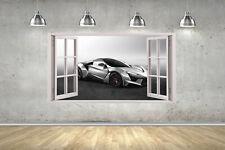 Lykan Fenyr Hyper Car Window Childrens Wall Stickers Bedroom Wall Art 4 Sizes