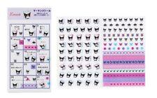 New Japan Sanrio Kuromi Diary Bookmark Stickers