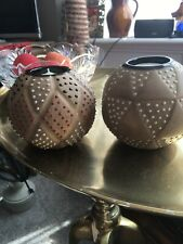 Zara Pair Beautiful Tea Light Holders BNWOT