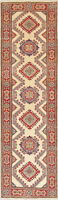 Geometric Kazak Oriental Runner Rug Hand-Knotted Wool 3x10 NEW Pakistani Carpet