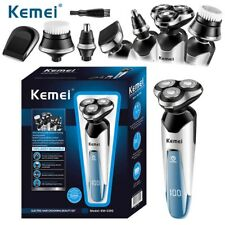 UK Cordless Electric Shaver Mens Razor Wet Dry Rotary Shaver Rechargeable KEMEI