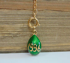 Joan Rivers Basse Taille 1996 FABERGE EGG CHARM Pendant Extender Queen Romania