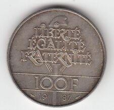MONNAIE 100  FRANCS  LA FAYETTE   EN ARGENT  1987   SYLVER COIN  3