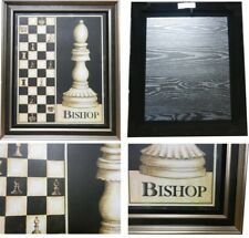 New Double Framed Wall Hanging Chess Pieces - Bishop  (PIC-Bishop)