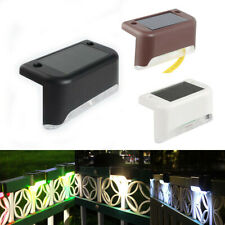 4PCS Solar LED Deck Lights Outdoor Path Garden Pathway Stairs Step Fence Lamp