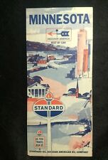 Minty 1966 STANDARD OIL CO TORCH MINNESOTA ROAD MAP ~CAR GAS ADVERTISING old vtg