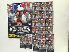 2013 TOPPS BASEBALL STICKER ALBUM WITH 25 PACKS OF 2013 STICKERS