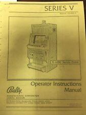 BALLY - V1000 -  VIDEO POKER MANUAL