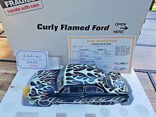 """Danbury Mint 1949 Ford """"Curly Flamed"""" Custom Coupe Dark Green/Flamed 1/24 MIB"""