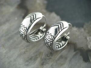 1 Paar Ohrringe CREOLEN Silber 925 TRIBAL Keltisch celtic Snake klein Version