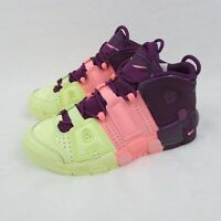 Nike Air More Uptempo GS AV8237-800 Citron Pink Purple Girls 6.5Y Eur 39