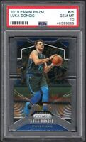 2019 Panini Prizm #75 LUKA DONCIC Dallas Mavericks PSA 10 GEM MINT