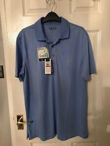 Mens pale blue IZOD golf polo shirt XL XXL BNWT
