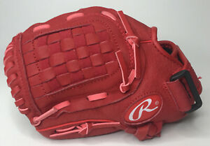 """Rawlings Youth Glove Highlight Series Red Baseball H105S 10 1/2"""" Left Hand Throw"""