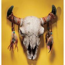 Decorative Skull - Native American Indian Wall Sculpture replica