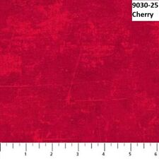 Canvas Cherry Red Tonal Quilt fabric Cotton by Northcott  BTY 9030-24