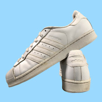 Adidas Superstar Men's Sports Shoes Size Uk 10 White Casual Trainers EUR 44.5