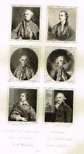 "Mezzotint Engraving Proof - Sir Joshua Reynolds ""SIX VARIOUS PORTRAITS"" - c1820"