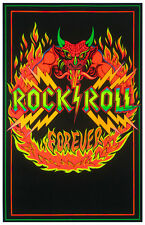 Rock N Roll Blacklight Poster Awesome Black Light Poster BRAND NEW! 24x36! SALE!