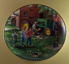CATCH OF THE DAY Plate JOHN DEERE Tractor Life on the Farm Fishing Danbury Mint